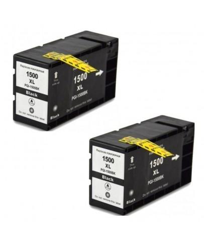 Ekoset Canon MB2050 MB2150 MB2155 uyumlu SİYAH Muadil Kartuş 2li Paket PGI-1500XL