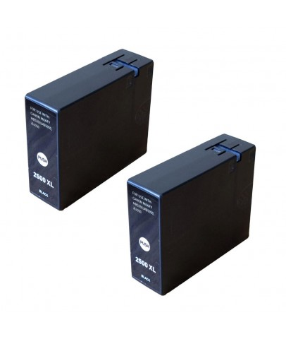 Canon iB4050, iB4150, MB5450 uyumlu SİYAH Muadil Kartuş 2li Paket PGI 2500XL