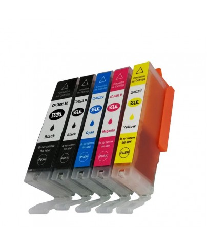 Ekoset Canon iP7250 uyumlu Muadil Kartuş Seti 5 renk PGI-550XL 551XL