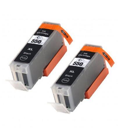Ekoset Canon iP8750 iP7250 iX6850 uyumlu Siyah Kartuş 2li Paket 550XL