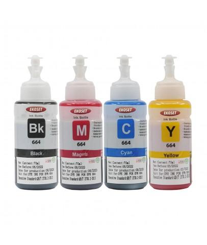 Ekoset Epson EcoTank L3070 uyumlu 4 renk mürekkep