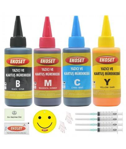 Ekoset Epson T1301-T1304 Uyumlu Muadil Mürekkep 4x100ml 4 renk