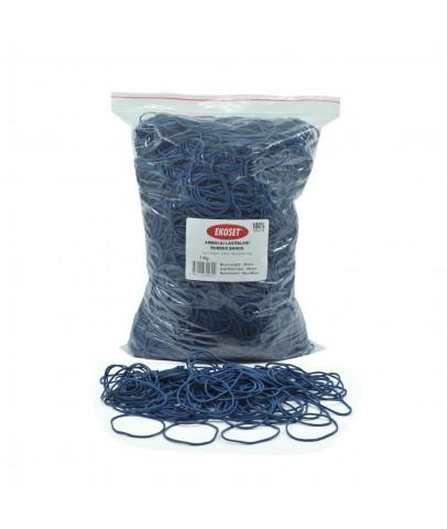 Ekoset Kauçuk Paket Ambalaj Para Lastiği 70mm Mavi 1Kg