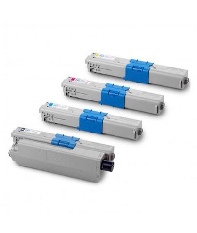 Ekoset oki C301/MC342w/MC342dnw uyumlu 4 Renk Muadil Toner Kartuş