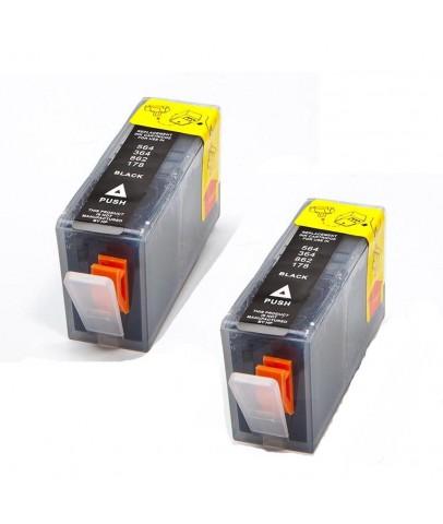 Ekoset HP 364XL uyumlu Siyah Muadil Kartuş 2li Paket