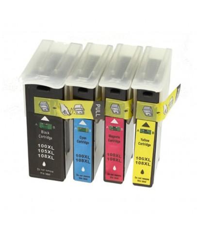 Ekoset Lexmark inkjet Pro805 uyumlu Muadil Kartuş Seti 4 renk 100XL